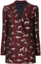 Blazé Milano tiger embroidered blazer