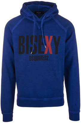 DSQUARED2 Man Blue Bisexy Hoodie