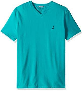 Nautica Men's Big and Tall Short Sleeve V-Neck Solid Jersey T-Shirt