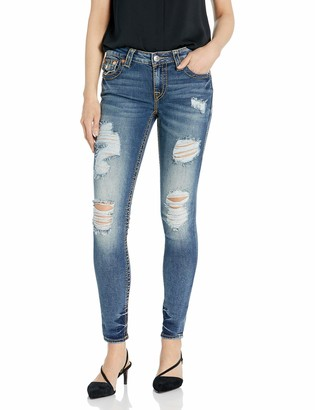 True Religion Women's Jennie Curvy Big T Skinny Fit Jean with Back Flap Pockets