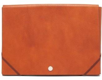 Brunello Cucinelli Grained-leather Document Holder - Brown