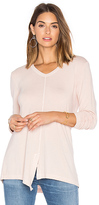 Wilt Split Slouchy Long Sleeve Tee in Blush