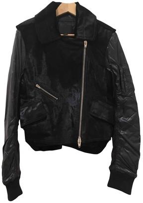 Alexander Wang Navy Leather Jackets