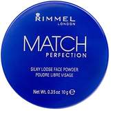 Rimmel Match Perfection Silky Loose Face Powder, 001 Transparent, 10 g