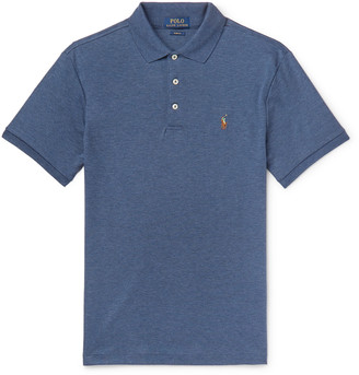 Polo Ralph Lauren Slim-Fit Melange Pima Cotton-Jersey Polo Shirt