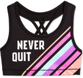 Ideology Never Quit Striped Sports Bra, Big Girls (7-16), Only at Macy's