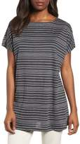 Eileen Fisher Stripe Organic Linen Tunic