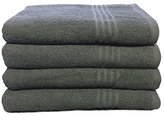 Metro 100% Cotton 4-piece Basic Bath Towel Set (Grey)