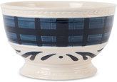 Fitz & Floyd Stoneware Bristol Indigo Tartan Soup Bowl