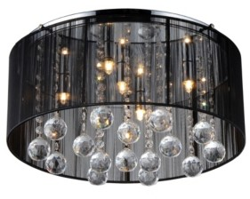 """Home Accessories Crystal 18"""" 5-Light Indoor Pendant Lamp with Light Kit"""