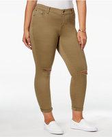 Celebrity Pink Trendy Plus Size Destructed Girlfriend Skinny Ankle Jeans