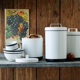 west elm White Enamel Canisters