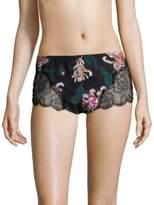 Fleur Du Mal Rose Lace Tap Shorts