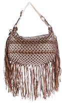 Marc Jacobs Woven Leather Fringe Bag