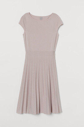 H&M Fine-knit Dress - Pink