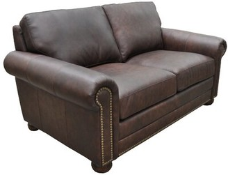 Athens Genuine Leather Chesterfield Loveseat Omnia Leather
