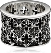 King Baby Studio Wide Relic Band Sterling Ring, Size 7
