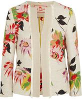 Etro Floral-print Cotton-blend Jacket - Cream