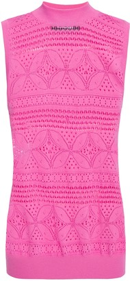 Moschino Pointelle-knit Top