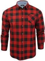 Brave Soul Mens Jack Checked Check Long Sleeve Cotton Lumberjack Shirt Wht - XL