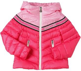 Moncler Egalntine Hooded Nylon Down Jacket
