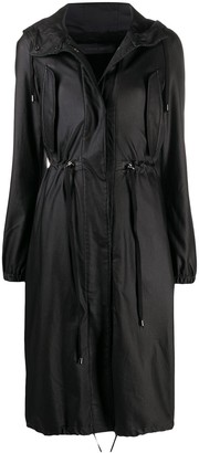 FEDERICA TOSI Hooded Mid-Length Trench Coat