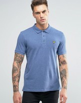 Lyle & Scott Pique Polo Eagle Logo Blue Marl
