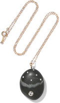 Cvc Stones Fragola Nera 18-karat Gold, Stone And Diamond Necklace - one size