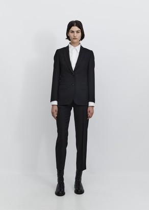 Officine Generale Vanessa Fresco Wool Blazer Black