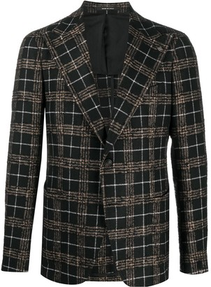 Tagliatore Button Down Plaid Blazer