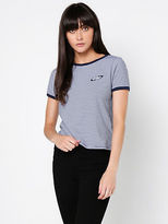 All About Eve New Womens All Ringer Fanclub In Stripe Tops & T Shirts