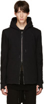 11 By Boris Bidjan Saberi Black Zip-Up Hoodie