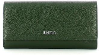 Iuntoo Green Leather Bifold Large Armonia Women's Wallet