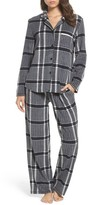 DKNY Women's Stretch Fleece Long Pajamas