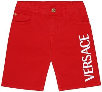 Versace Kids Logo shorts