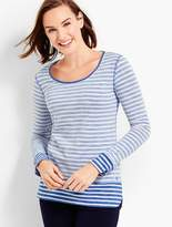Talbots Long-Sleeve Stripe Tee