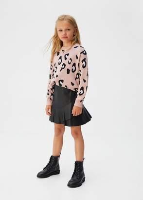 MANGO Fluted hem skirt black - 7 - Kids