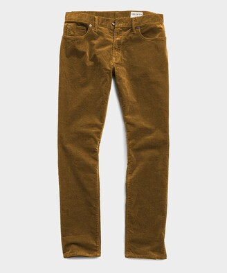 Todd Snyder Slim Fit 5-Pocket Stretch Italian Cord in Autumn Yellow