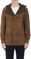 Belstaff MEN'S WAXED COTTON HOODED JACKET-BROWN SIZE 52