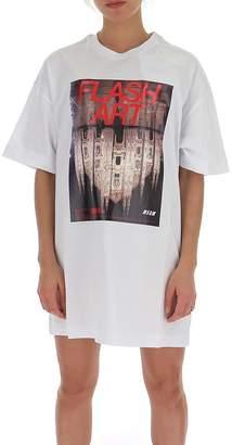 MSGM Oversize Graphic T-Shirt