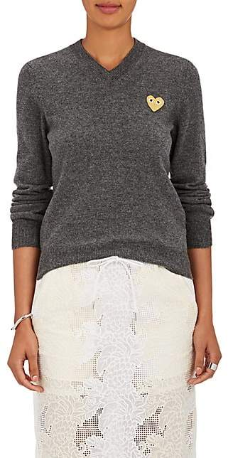 Comme des Garcons Women's Heart Wool Sweater - Gray