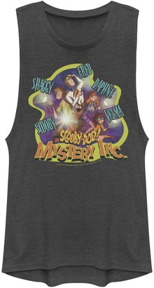 Licensed Character Juniors' Scooby-Doo Mystery Inc. Name Portraits Muscle Tee