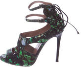 Tabitha Simmons Floral Print Ankle-Strap Sandals