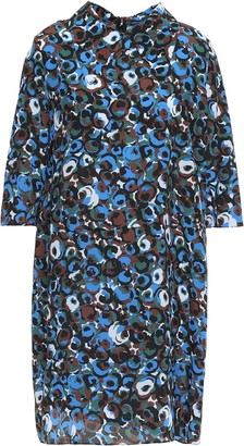 Marni Printed Silk-crepe Mini Dress