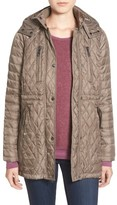 Vince Camuto Women's Detachable Hood Quilted Anorak