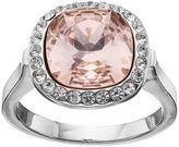 Brilliance+ Brilliance Pink Crystal Halo Ring with Swarovski Crystals