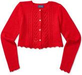 Ralph Lauren Cropped Pointelle-Knit Cardigan, Big Girls (7-16)
