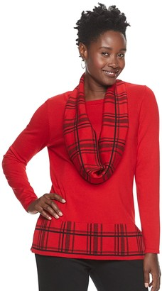 Croft & Barrow Women's Scarf Sweater Set