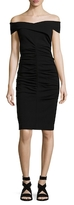 Nicole Miller Structured Heavy Jersey Dress