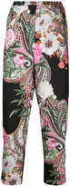 Blugirl floral paisley print cropped trousers